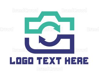 Photo - Recycled Camera logo design