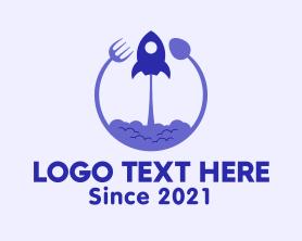 Restaurant - Rocket Kitchen Utensils logo design