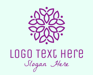 Event Styling - Purple Flower Fashion logo design