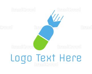 Pharmaceutic - Atomic Capsule logo design