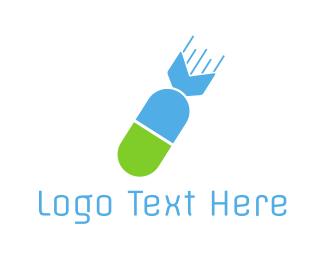 Biotech - Atomic Capsule logo design