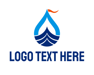 Row - Sea Boat logo design