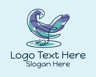 Matrimonial - Pigeon Bird Doodle  logo design