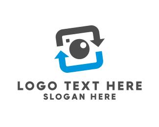 Snappy - Camera Lens logo design