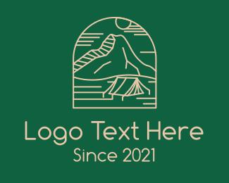 Camper - Outdoor Mountain Camping logo design