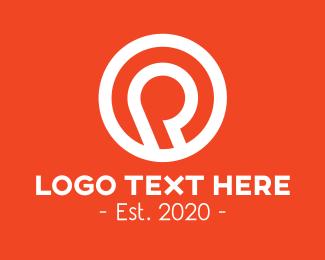 Letter P - Circle Letter P logo design