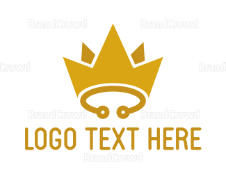 Engineer - Yellow Circuit Crown logo design
