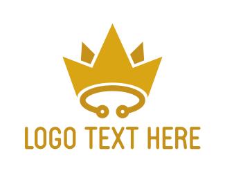Circuit - Yellow Circuit Crown logo design