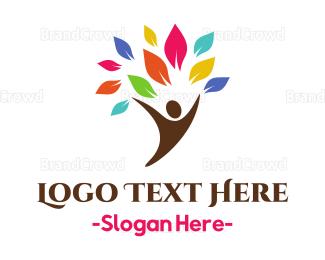 Human Tree - Human Branch logo design