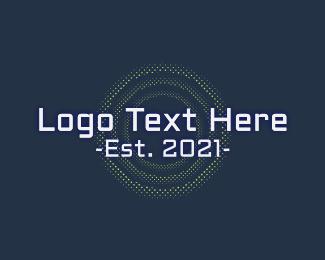 White Tech Startup Wordmark Logo