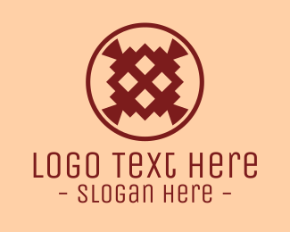 Bohemian - Boho Abstract Emblem logo design
