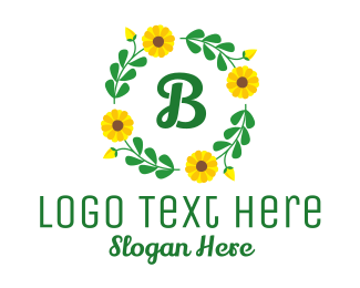 Ornamental - Sunflower Ornamental Wreath logo design