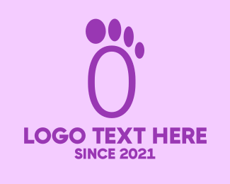 Footprint - Purple Footprint logo design
