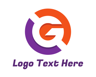 Club - Purple Orange Circle G logo design