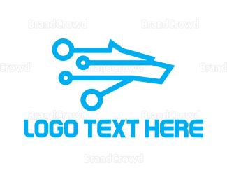 Predator - Tech Wolf logo design