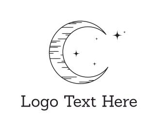 Lunar - Black Moonlight logo design
