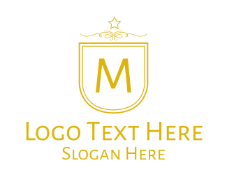 Fc - Golden Luxurious Badge Lettermark logo design