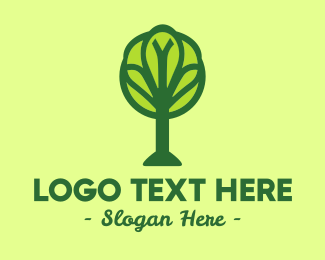 Universal - Global Green Tree logo design