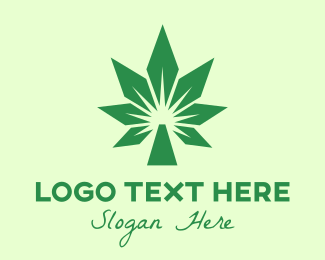 Joint - Green Cannabis Polygon logo design