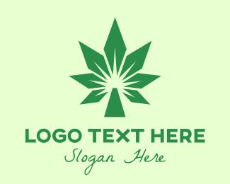 Cbd - Green Cannabis Polygon logo design