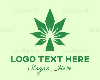 Joint - Cannabis Polygon logo design