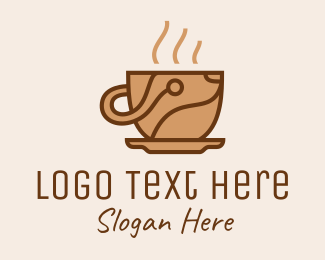 Home Appliances - Coffee Maker Tech  logo design