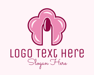 Nail Bar - Flower Nail Style logo design