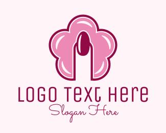 Nail Salon - Flower Nail Style logo design