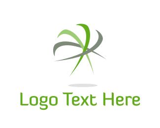 Windmill - Green Blades logo design