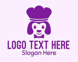 Chef Hat - Purple Puppy Chef logo design