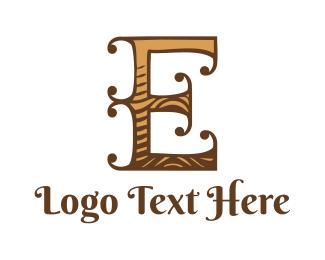 """Wooden Letter E"" by Levon"
