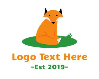 Racoon - Cute Wild Fox logo design