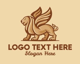 Company - Flying Lion Mascot  logo design