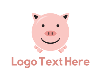 Pig - Happy Pig logo design