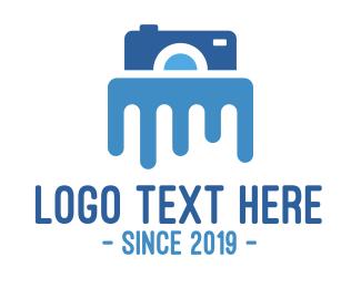 Melting - Waterproof  Camera logo design