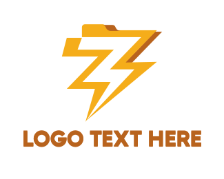 File Transfer - Electric File logo design