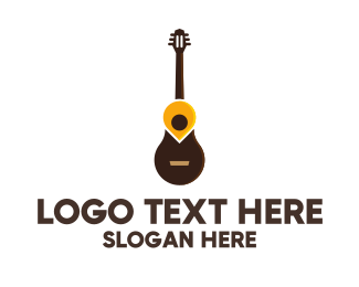 Compose - Guitar Location Pin logo design
