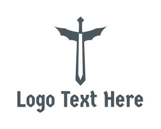 Sword - Dragon Sword logo design