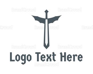 Fiction - Dragon Sword logo design