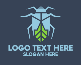 Green Beetle - Eco Bug logo design