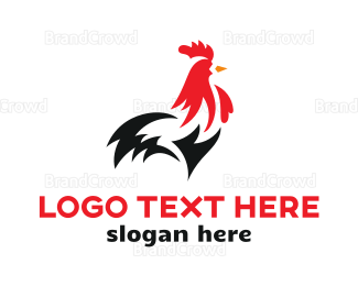Hen - Abstract Rooster  logo design