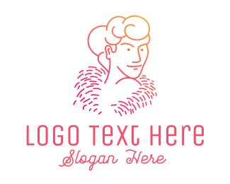 Pretty - Woman Strapless Dress logo design