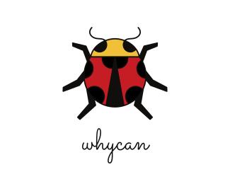 Bug Geometric Lady Bug logo design