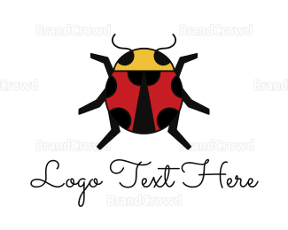 Beetle - Geometric Lady Bug logo design