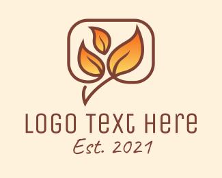 Inbox - Gradient Autumn Leaves logo design