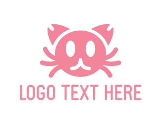 Hellcat - Crab Cat logo design