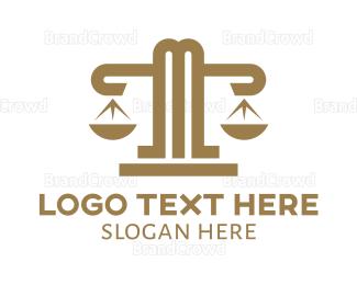 Lawyer - Modern M Scale  logo design