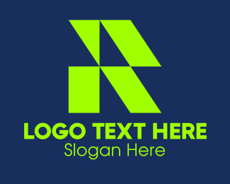 Roofing - Green Roofing IR Monogram logo design