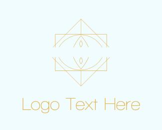 Art Deco - Diamond Lines logo design