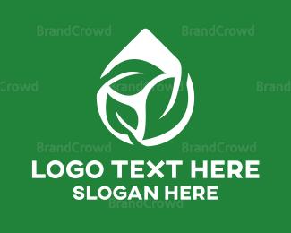 Water - Leaf Water Drop logo design
